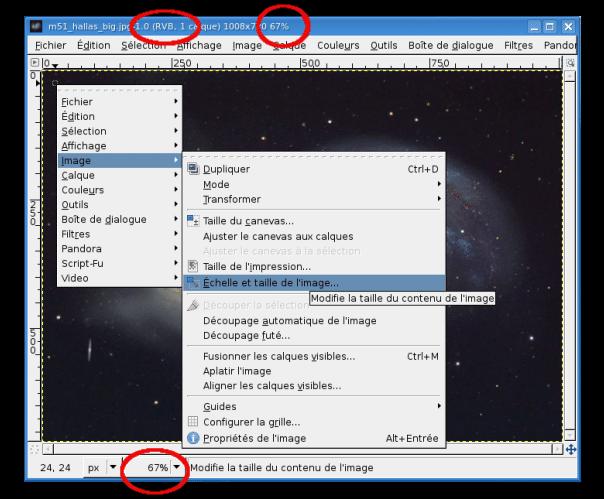 Comment redimensionner une image avec GIMP ?